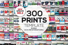 300+ Print Templates Bundle