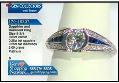 Wonderful antique diamond and sapphire ring from our estate jewelry collection