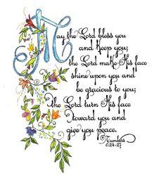 Scripture Art   Numbers 6:24-27
