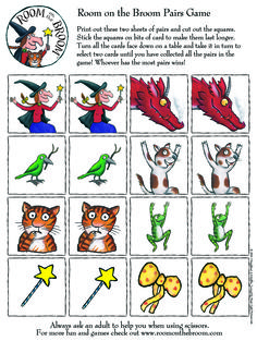 Sheet 1: Test your memory with this Room on the Broom pairs game. Make sure you print both sheets!