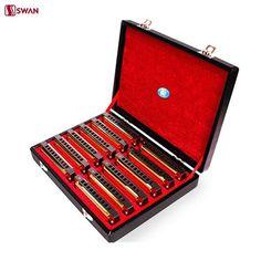 165.32$  Watch here - http://aliaky.worldwells.pw/go.php?t=32666744237 - Swan 10 Hole 20 Tone Harmonica Senior Diatonic Blues Harp A/B/C/D/E/F/G/A#/C#/D#/F#/G# Key Mouth Organ Golden With Gift Box 165.32$
