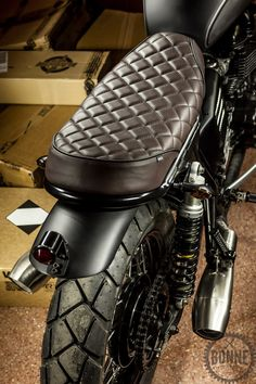 Custom Bonneville seat cushion.