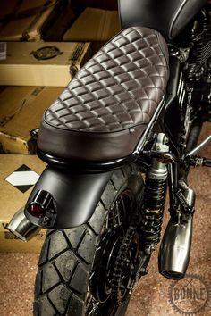 Custom Bonneville seat cushion.