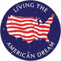 This is a picture of the american dream pin. It represents one of the themes in the story Of Mice and Mice.