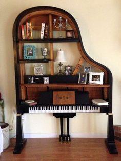 Repurposed baby grand piano: