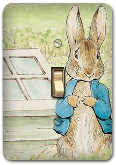 Peter+rabbit+Nursery | Peter Rabbit Metal Light Switch Plate Cover Benjamin Nursery Home ...