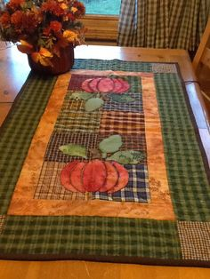 Table Runner Pattern Table Runner And Placemats Quilted Table Runners Fall Table Runner Thanksgiving Table Runner Halloween Table Runners Place Mats Quilted Bed Runner Fall Quilts Patchwork Table Runner, Table Runner And Placemats, Quilted Table Runners, Fall Table Runner, Thanksgiving Table Runner, Table Runner Tutorial, Table Runner Pattern, Halloween Table Runners, Fall Sewing