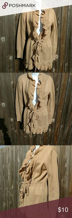Women's Tan Sweater size XS Tan women's sweater. Perfect for the fall with a cute pair of jeans Elle Sweaters Cardigans
