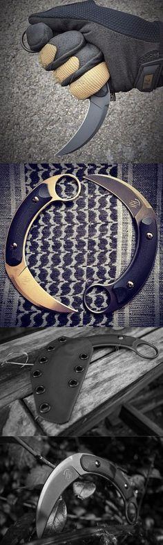 Bastinelli Creations Kalinou Karambit Fixed Combat Knife Blade @thistookmymoney