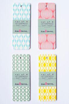 Gift Tags - letterpress, Eva & Anne at Print&Paper Id Design, Pattern Design, Print Design, Graphic Pattern, Gift Envelope, Art Graphique, Stationery Design, Cool Cards, Tag Art