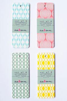 Gift tags by Eva & Anne