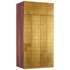 "Phillip Lloyd Powell Wall-Mounted Gold Leaf 60"" Cabinet, 1963"