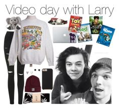 """""""Day with Larry"""" by fakeverahoran ❤ liked on Polyvore"""