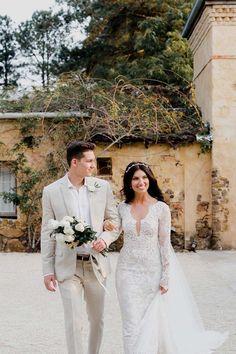 Lara Milenko married Brett Brimson in a stylish Byron Bay wedding. Byron Bay Weddings, Vogue Australia, Real Weddings, Wedding Inspiration, Bride, Stylish, Wedding Dresses, Image, Fashion