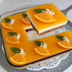 Japan Dessert, Orange Dessert, Pastry Shop, Turkish Recipes, Iftar, Amazing Cakes, Food Hacks, Sweet Recipes, Cake Decorating