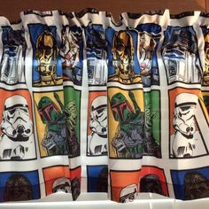 """Star Wars Window Valance ~ Extra Wide ~ 65"""" Wide x 15"""" Long by CheriesSewCrafty on Etsy"""