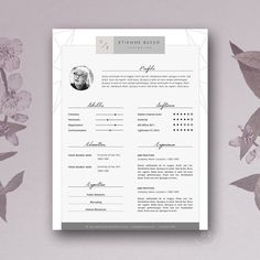 Fashion Resume Template 3 page / CV Template by Botanica Paperie / Professional Resume Template for MS Word / Minimal Resume Design & FREE Cover Letter If you like this cv template. Check others on my CV template board :) Thanks for sharing! Cover Letter Template, Cv Template, Letter Templates, Resume Templates, Templates Free, Business Brochure, Business Card Logo, Corporate Business, Business Design