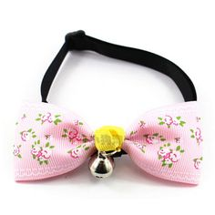 Dimart Puppy Kitty Bow Tie Adjustable Flowers Bow Pattern cat Necktie Collar With Bell For Dog And Cat-S ** Quickly view this special cat product, click the image : Cat Collar, Harness and Leash