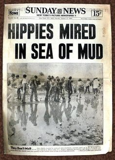 Rock Posters, Concert Posters, Woodstock Performers, Woodstock Pictures, Woodstock Hippies, New York Pictures, Rock Festivals, Age Of Aquarius, Anos 60