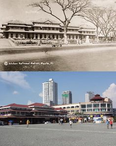TUTUBAN RAILROAD STATION  Location: Mayhaligue St., Tondo Manila Philippines Wayback 1892 * Tutuban Center Mall formerly the Tutuban Railroad Station Facade  *The Tutuban terminal Station was part of Manila Railroad Company to established a Manila to Dagupan line in 1882 *The original Tutuban Railroad Station built in 1892, which today is part of the TUTUBAN CENTERMALL  *The Tutuban CenterMall was formally inaugurated to the public led by formerly President Fidel V. Ramos on February 21… Senior Citizen Humor, Filipino Architecture, Railroad Companies, Filipiniana, Adaptive Reuse, Manila Philippines, Historical Architecture, Monuments, Thesis