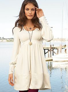 Silk trim baby doll dress from Victoria's Secret  So cozy and cute!
