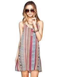 FULL TILT Ethnic Print Slip Dress