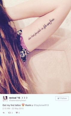 10 beautiful taylor swift tattoos and their meanings Creative Tattoos, Great Tattoos, Small Tattoos, Random Tattoos, Taylor Swift Tattoo, Taylor Swift New, Lyric Tattoos, Girl Tattoos, Tatoos