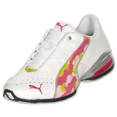 PUMA Cell Jago 7 DC Women's Running Shoes, White/Rasberry Rose/Digi Camo 18635301- #Glimpse_by_TheFind