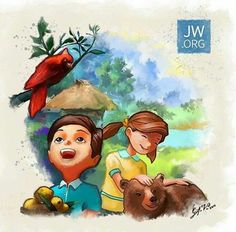 Caleb and Sofia imagining themselves in paradise or maybe they are there! Jw Pioneer, Pioneer School, Pioneer Gifts, Caleb Et Sophia, Jehovah Paradise, Simple Gifts For Friends, Jw Gifts, Strong Faith, Bible Encouragement