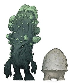 Rumpadump & Stool – Stool is a stunted adult myconid and a fun companion who can help the party navigate through the Underdark. It behaves something like a little brother or sister who follows you around. Stool continually asks to meld minds with adventurers and could have important information. Rumpadump is Stool's awkward buddy who says little and shuffles behind its chatty pal.