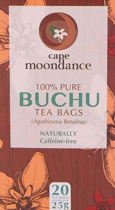 Cape Moondance Buchu, de eerste 100% pure Buchu thee. Perfect voor een gezonde blaas. 100 Pure, Pure Products