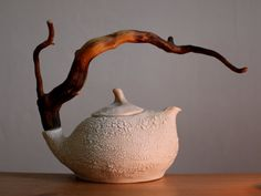Hey, I found this really awesome Etsy listing at https://www.etsy.com/listing/260856097/lonely-desert-ceramic-teapot-with-wooden