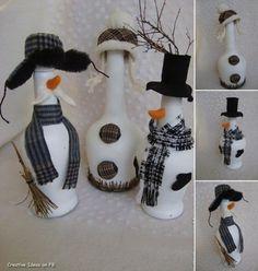 Snowmen from bottles