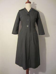 Grey Uniform Style Dress, S Uniform Dress, Shirt Dress, Shirtwaist Dress, Office Chic, All The Way Down, Design Concepts, Bombshells, Day Dresses, Finland