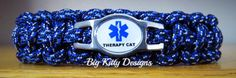 Therapy Cat Paracord Bracelet w/Side Release Buckle  $16.95