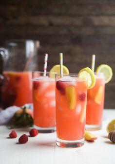 Homemade Raspberry Peach Lemonade RecipeReally nice recipes. Mein Blog: Alles rund um die Themen Genuss & Geschmack Kochen Backen Braten Vorspeisen Hauptgerichte und Desserts