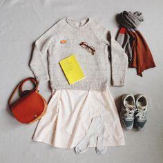 Primoeza Jasmine Dress Primoeza Neat Sweater Primoeza Colourblock Scarf