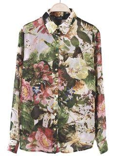 Floral Long Sleeved Shirt