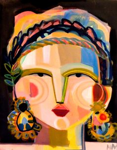 The exuberance and confidence radiating from Hayley Mitchell's cubist-inspired faces is contagious. It's impossible not to be in good spirits after taking in her painted series of rosy cheeked, vivaciously adorned ladies! The Austin based artist's pieces… Canson, Abstract Faces, Canvas Paper, Face Art, Oeuvre D'art, Bunt, Images, Artsy, Drawings