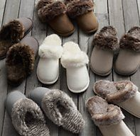 Luxe Faux Fur Scuff Slippers | Luxury Robes & Slippers | Restoration Hardware