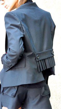 Nuovo nero elegante Blazer / nuovo autunno cappotto/nero