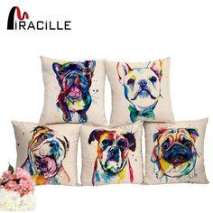 French Bulldog Printed Decorative Sofa Throw Cushion Covers #bulldogcushion,#cushion,#cushioncover,#decorativepillow,#pillowcover  #bulldog #bulldogpuppy #bulldoglover #bulldogowner #britishbulldog