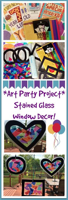 Celebrating a birthday with an art theme and creating stained class art! #BirthdaysMadeBrighter #ad