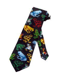 Mens Green E-coli Cell Fashion Casual Tie Necktie