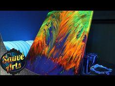 (29) Cell Heaven, Big Cells, no torch, 4 colors DecoArt Premium Paints, large cells - YouTube