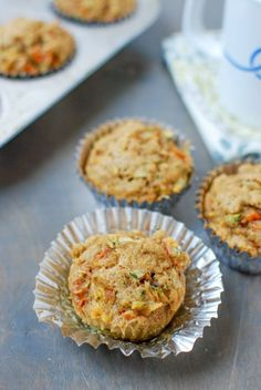 Packed with fruits and vegetables, this recipe for Zucchini Carrot Apple Muffins makes the perfect snack!