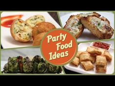Party Food Ideas by Ruchi Bharani -- Rajshri Food | Party Appetizers | Quick Bites | Cream Cheese Tortilla Pinwheels | Pesto Tomato Sandwich | Cheese Tomato Skewers | Paneer Parcel | Hariyali Aloo Tikka | Garlic Cheese Bread | Cream Cheese Dip | Stuffed Zucchini Rolls | Cheese Corn Balls |