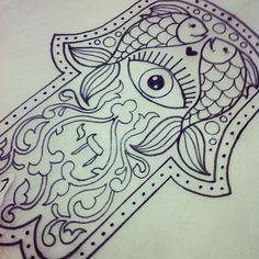 Hamsa for tomorrow's tattoos by jessversus, via Flickr