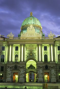 The Holburg Gate In The Holburg Castle At Dusk   Vienna   Austria   Photo By Taylor S. Kennedy