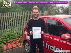 OBT Driving Instructor Judy Hale helped Edmond Bounce pass his driving test in Hamilton on the 6th June 2014. Learn to drive with the number 1 driving school in the country, On Board Training - www.onboardtraining.co.uk
